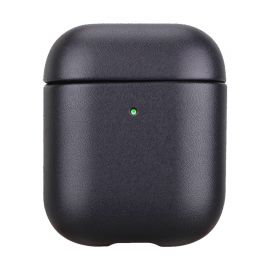 Black leather case for AirPods 1 & 2