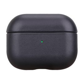Black leather case for AirPods Pro