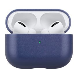 Blue leather case for AirPods Pro
