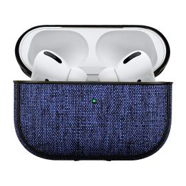 Blue fabric case for AirPods Pro