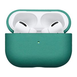 Green leather case for AirPods Pro