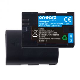Replacement battery for CANON LP-E6N